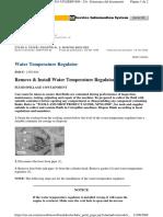 Water Temperature Regulator - Remove & Install