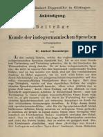 Bezzenberger-Ankündigung