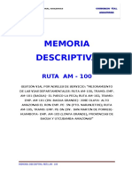 Memoria Descriptiva RUTA AM - 100 REV3