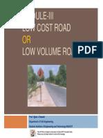 Module 3 Low Cost Road