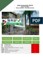 Edital Verticalizado TRE PR Tecnico Judiciario Area Administrativa