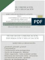 Técnicas de Comunicación, Información y Negociación