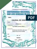 1er Trabajo de Hidraulica Urbana i 2010 1