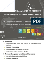 ANDRE Review and Analysis of Current Traceability Systems