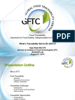 IAFP 2014 Traceability and Food Defense