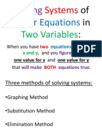 Solving Systems of Linear Equations in Two Variables