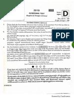 Panchayat Secretary 2019 Solved Paper