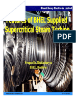 Features of Bhel Supplied Supercritical Steam Turbine