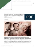 Depressão, tendências suicidas e psicopatia_ a história de sofrimento mental de presidentes americanos - BBC News Brasil