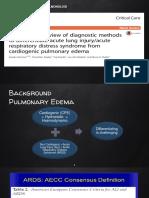 ARDS vs Cardiogenic Pulmonary Edema- Copy