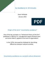 Uncertainty Avoidance in 10 Minutes 2015-09-05