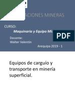 Maquinaria y Equipo Minero - Tema7