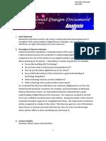 instructional design document
