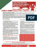 Le Tract Realise Par Le Syndicat Fo Des Hopitaux Universitaires de Strasbourg