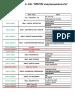 Cronograma Sesiones Cátedra J.E.G