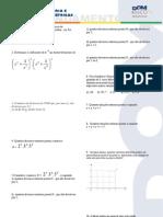 Matemática - Pré-Vestibular Dom Bosco - Análise Combinatória e Equações Trigonométricas - Exercícios de Aprofundamento