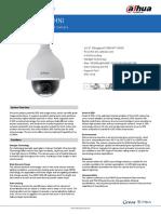 Hoja técnica cámara IP Dahua