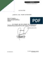 Citación Junta de Portavoces