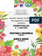 RPMS Cover Pages for KRAs and ObjectivES