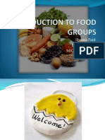 Introduction to Food Gtroups