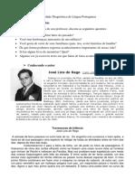 Atividade Diagnóstica de Língua Portuguesa Oitavo Ano