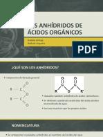 Los Anhídridos de Ácidos Orgánicos