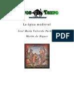 Valverde Pacheco, J. M. _ Riquer, Martin de - La epica medieval.pdf