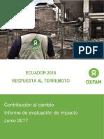 OXFAM Ecuador Respuesta al Terremoto