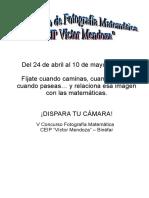 Concurso de Fotografía Matemática