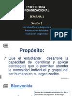 1 Clase Presentacion Ps. Organizacional