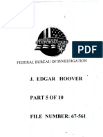 FBI Dossier of J. Edgar Hoover (FOIA Declassified), Part 5a