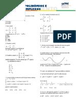 Matemática - Pré-Vestibular Dom Bosco - Matrizes, Polinômios e Números Complexos - Exercícios de Aprofundamento
