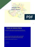 Matemática - Pré-Vestibular Dom Bosco - Operações com Números Inteiros
