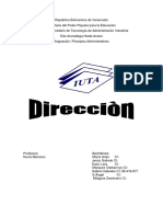 Trabajo de Dirección  en proceso administrativos