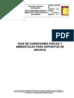Condiciones Físicas y Ambientales Para Los Depósitos de Archivos