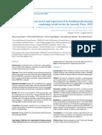 Articulo Medico Sobre Problemas en SERUMS 2015