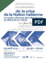 BYRON, Jhon (2019) Sortir de la crise de la Nation haïtienne