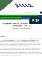Lowepro ProTactic 450 AW Mochila para Cámara y Laptop (Black) - tripodes.cl