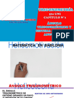 Capítulo 1 Sistema de Medidas Angulares