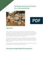 Proyectos de Modernización de Redes de Acueducto y Alcantarillado
