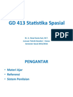 Pengantar Statistika Spasial - 2015