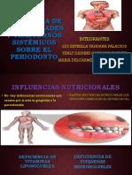 influencia de enfermedades y trastornos sistemicos sobre el periodonto