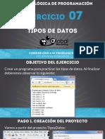 Ejercicio 07 - Tipos de Datos