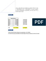 Ejercicios de Valor Actual - Costo Financiero TCEA