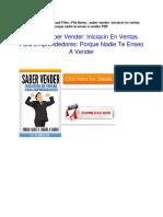 Saber Vender 3a Iniciaci c3 b3n en Ventas Para Emprendedores 3a Porque Nadie Te Ense c3 b1o a Vender