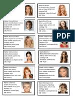 Celebrities Cards Women Games