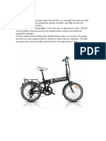 Electrical Bike Manual Long Yeah