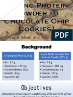 adding protein powder to chocolate chip cookies