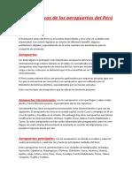 Características de Los Aeropuertos Del Perú