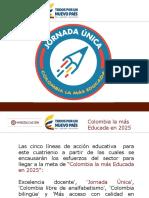implementacion de la jornada unica en colombia